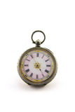 Antique Watch. Ornate silver antique watch on a white background Royalty Free Stock Photography