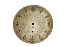 Antique watch face. With clipping path Royalty Free Stock Photo