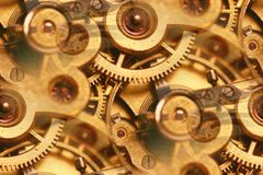 Antique watch inner workings abstract Royalty Free Stock Images