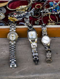 Antique watches and costume jewelry Royalty Free Stock Image