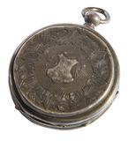 Antique watches pocket with lid open Stock Photo