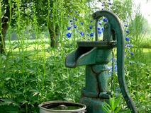 Antique Water Pump in Garden Royalty Free Stock Photography
