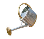 Antique Watering Can (with clipping path) Royalty Free Stock Image