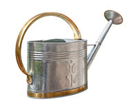 Antique Watering Can (with clipping path) Stock Images