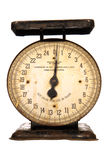 Antique Weighing Scale with Needle Dial Isolated Stock Image