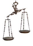 Antique weighing scale Stock Photography