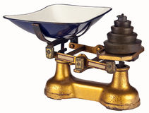 Antique Weighing Scales - Isolated Royalty Free Stock Images