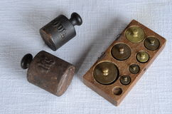 Antique weights Royalty Free Stock Image