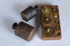 Antique weights Stock Image
