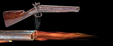 Antique Western Shotgun. Royalty Free Stock Image