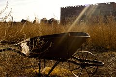 Antique Wheel Barrow Royalty Free Stock Image