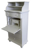 Antique White Chest. With Drop Lid Secretary Desk Lid Royalty Free Stock Image