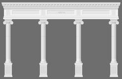 Antique white colonnade Stock Photo
