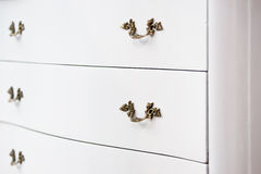 Antique white cupboard Royalty Free Stock Images