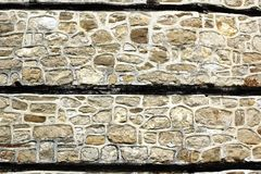 Antique white decorativ stone wall Royalty Free Stock Images