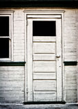 Antique White Door. Built in the late 19th or early 20th century stock image