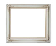 Antique white frame isolated Royalty Free Stock Image