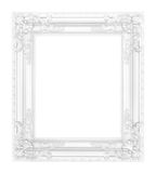 Antique white frame isolated. On white background Royalty Free Stock Images