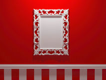 Antique White Ornamented Picture Frame Royalty Free Stock Images