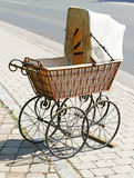Antique Wicker Baby Carriage Stock Photos