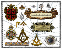 Antique wind rose Royalty Free Stock Photo
