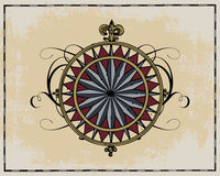 Antique wind rose. Isolated on light background Stock Photography