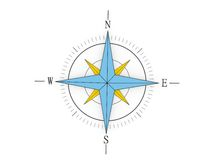 Antique wind rose Royalty Free Stock Photography