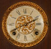 Antique Wind Up Clock Face Stock Images