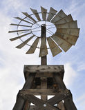 An Antique Windmill. An antique wood and metal wind mill Royalty Free Stock Photography