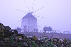 Antique windmill Royalty Free Stock Photography