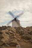 Antique windmills in La Mancha Stock Photo