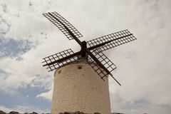 Antique windmills in La Mancha Royalty Free Stock Images