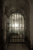 Antique window with a lattice Stock Photography