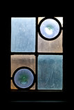 Antique window with stained glass Royalty Free Stock Image