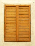 Antique Window Shutter. Close-up of an antique window shutter Stock Photo