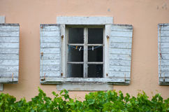 Antique windows in  Budva  ,Montenegro Royalty Free Stock Image