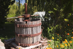 Antique wine barrel Stock Photo