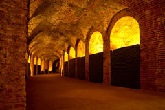 Antique Wine Cellar Stock Photography