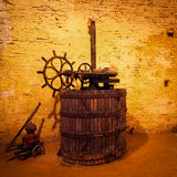 Antique Wine Press Royalty Free Stock Photo