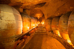 Antique winery in Spain with clay amphora pots Royalty Free Stock Photo