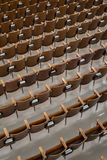 Antique Wood Auditorium Seats Angle View-2 Royalty Free Stock Photos