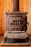 Antique Wood Burning Stove Royalty Free Stock Photos