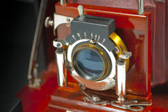 Antique wood camera Royalty Free Stock Image