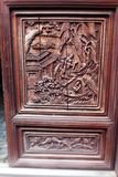 Antique wood carved panel, China Royalty Free Stock Image
