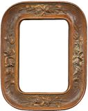 Antique wood frame. Antique carved wood frame with work path Stock Photography