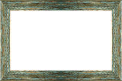 Antique wood frame picture Royalty Free Stock Photos