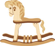 Antique Wood Horse. Board at the cute little hand-made Stock Photo