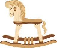 Antique Wood Horse Stock Photo