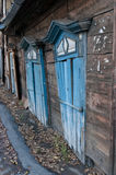 Antique wood  house. A antique wood house in the center of irkutsk Royalty Free Stock Image