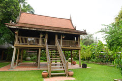 Antique Wood house of thailand style Royalty Free Stock Images